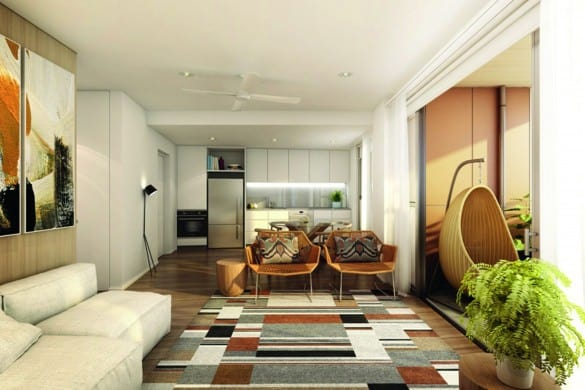 Forte - Render - 1 bed living (Lend Lease)