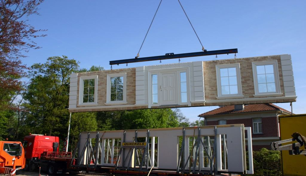Prefab wall installation