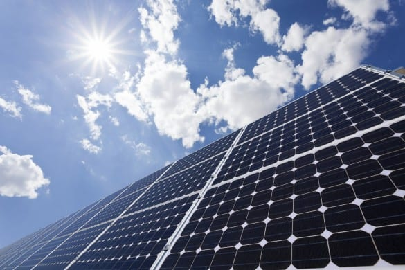 Solar panel hero