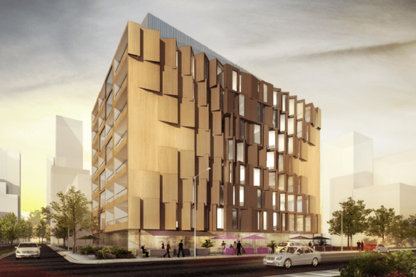 8 storey timber building render
