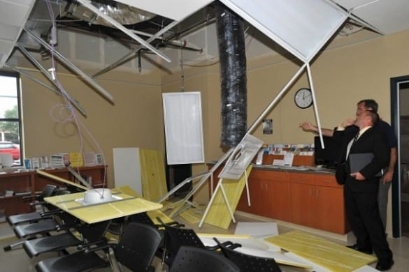 Ceiling collapses