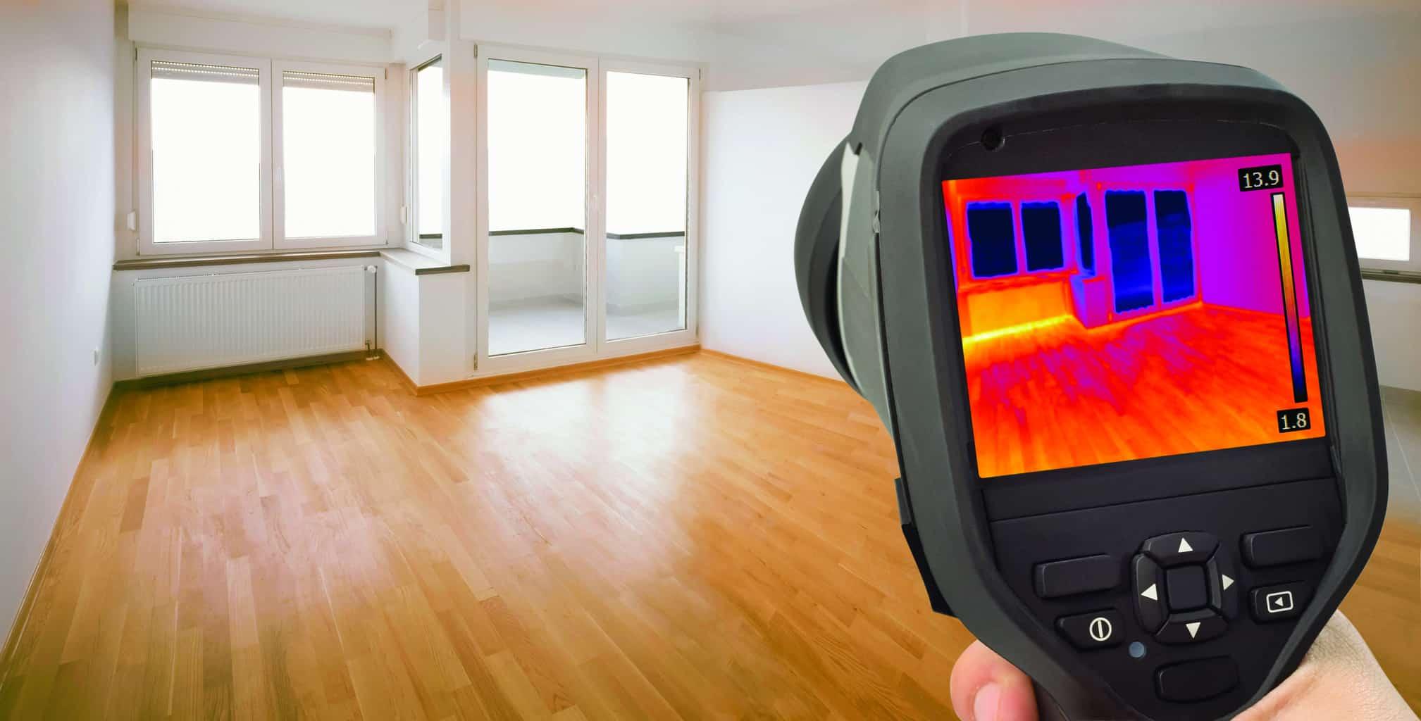 Thermal Image of Heat Leak thru Windows