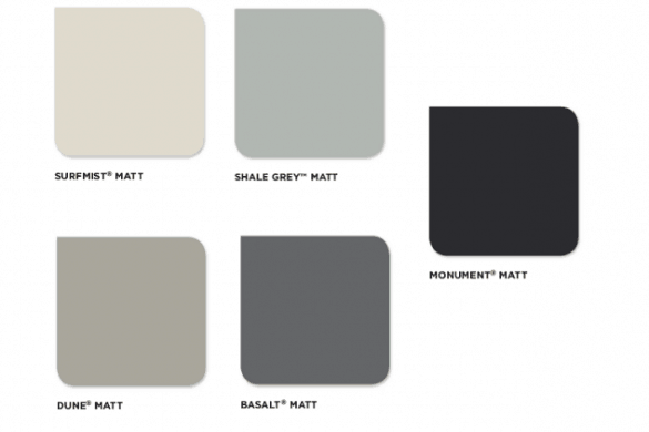 Colorbond steel launches new matte collection
