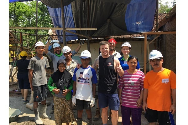 USG Boral helps build two houses in Indonesia with Habitat for Humanity Australia