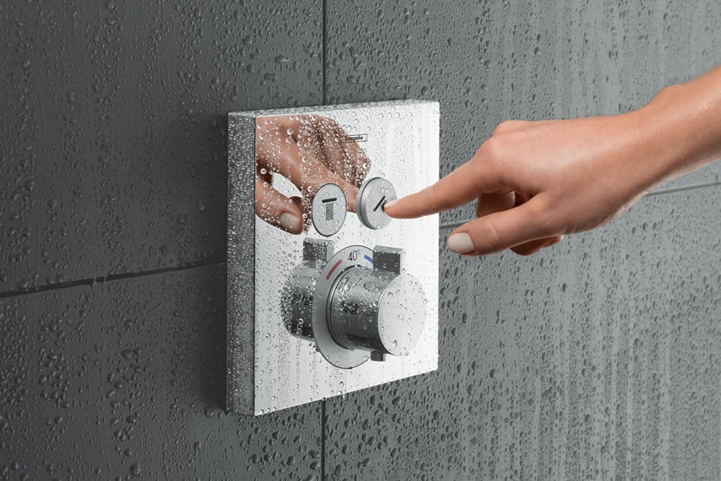 Hansgrohe ShowerSelect push button